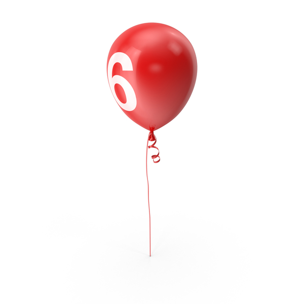 Number 6 Balloon PNG & PSD Images
