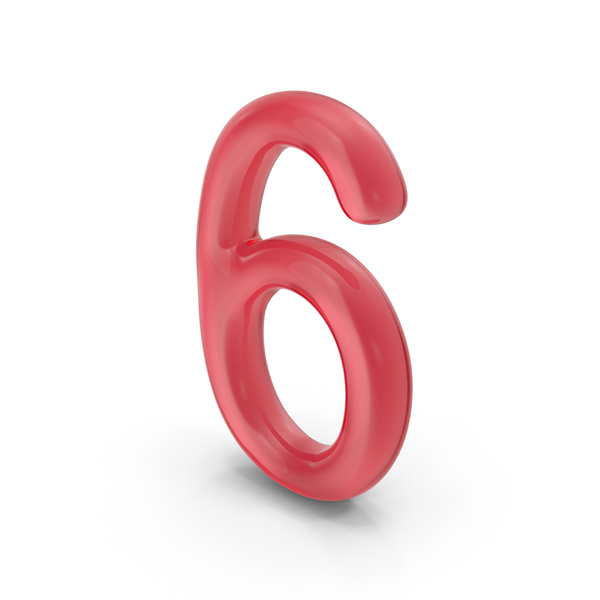 Number 6 Glass PNG & PSD Images
