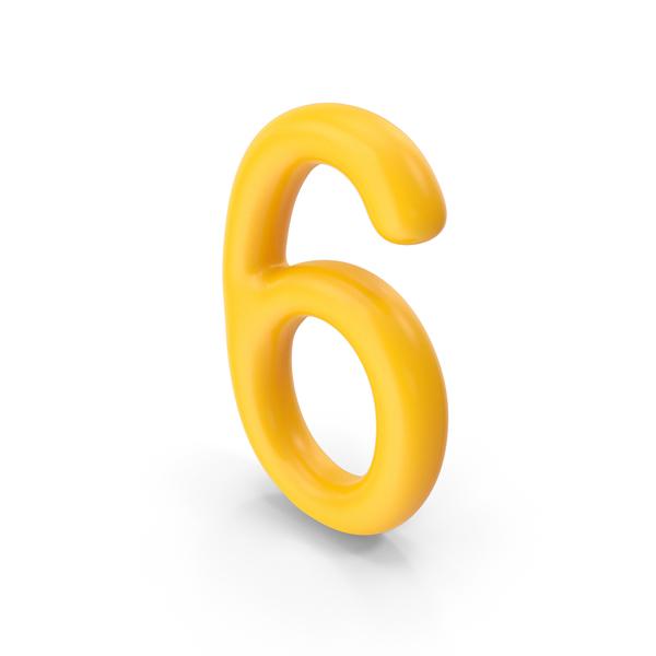 Number 6 Orange PNG & PSD Images