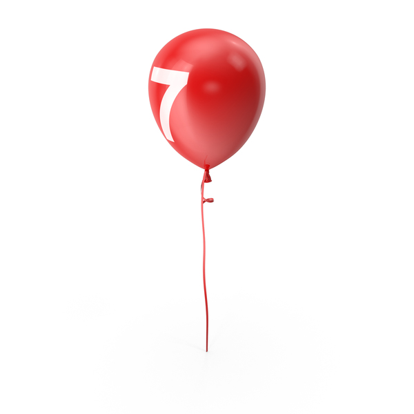 Number 7 Balloon PNG & PSD Images