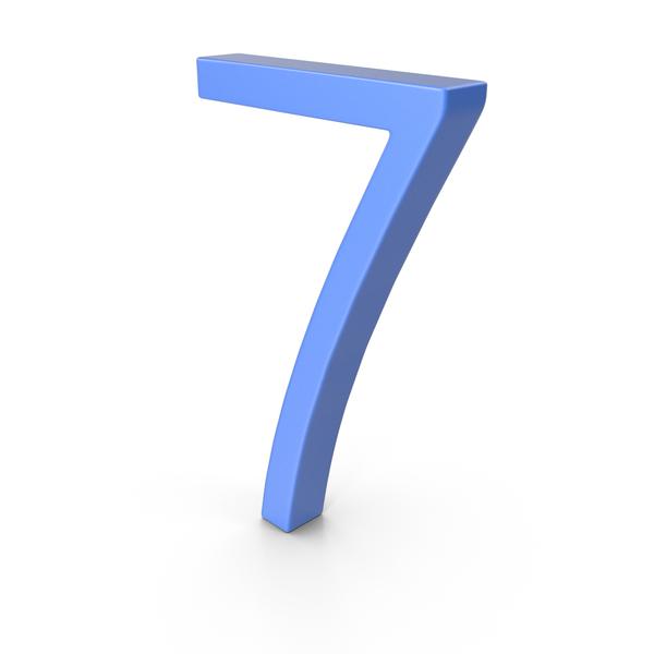 Number 7 Blue PNG & PSD Images