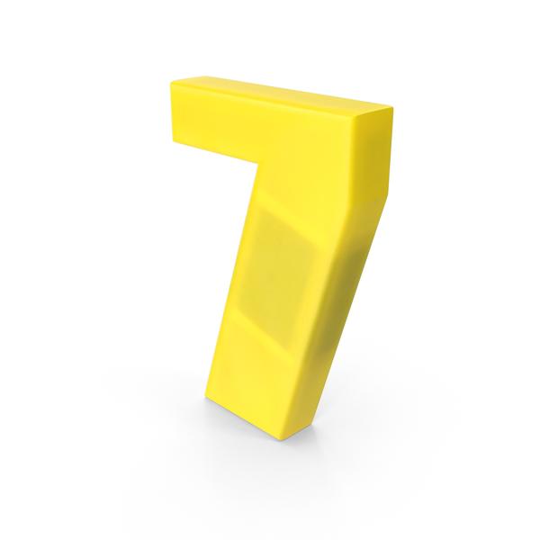 Souvenir: Number 7 Fridge Magnet Object