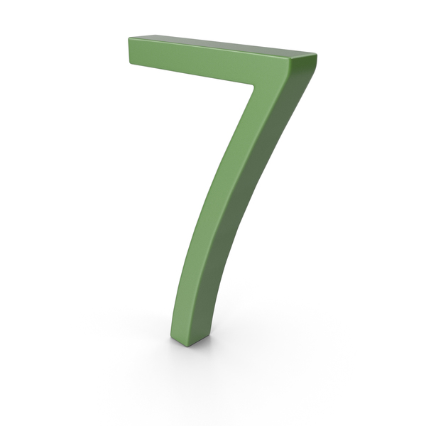 Number 7 Green PNG & PSD Images