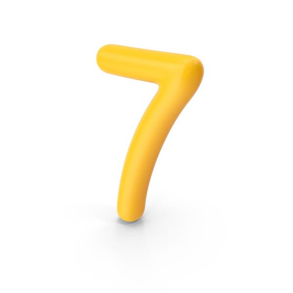 Number 7 Orange PNG & PSD Images