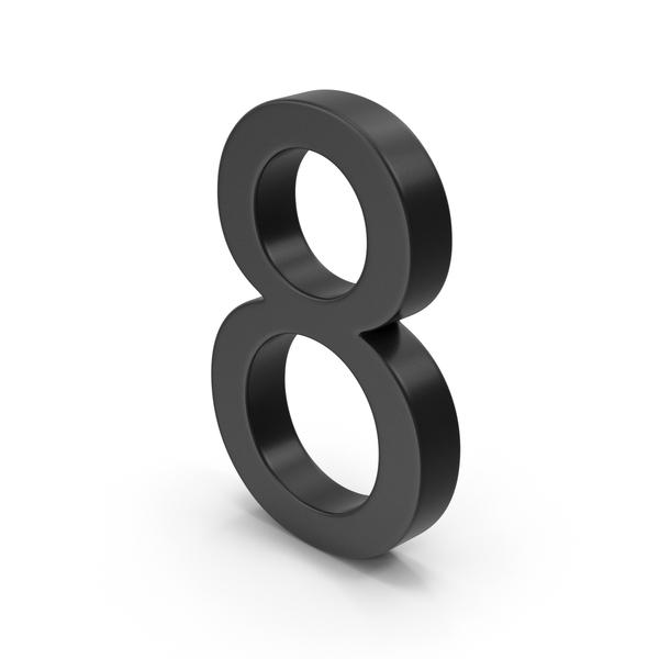 Number 8 Black PNG & PSD Images