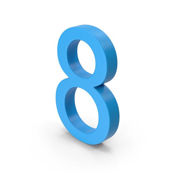 Number 8 Blue PNG & PSD Images