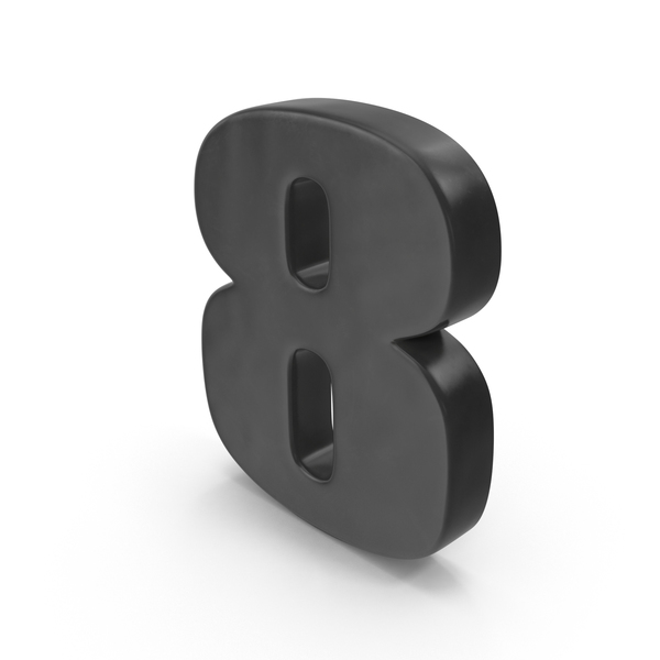 Number 8 Fridge Magnet Object