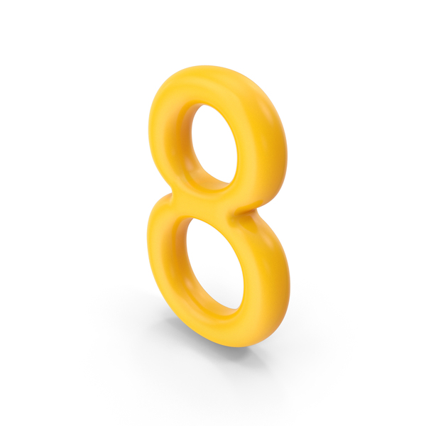Number 8 Orange PNG & PSD Images