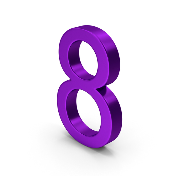 Number 8 Purple PNG & PSD Images