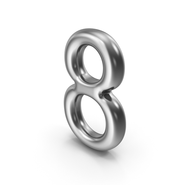 Language: Number 8 Silver PNG & PSD Images
