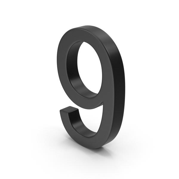 Number 9 Black PNG & PSD Images