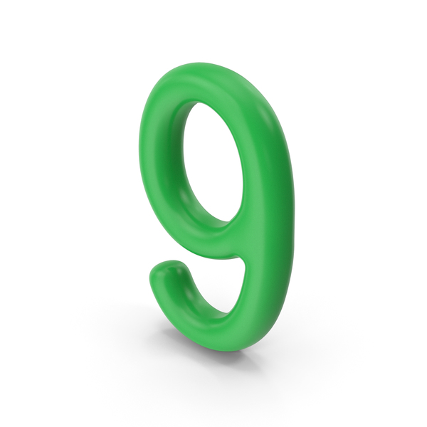 Number 9 Green PNG & PSD Images