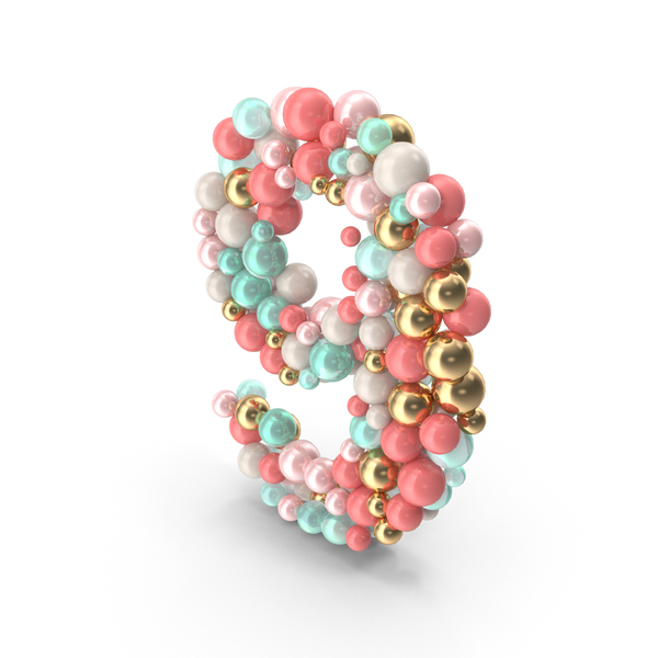 Number 9 Made of Balls PNG & PSD Images