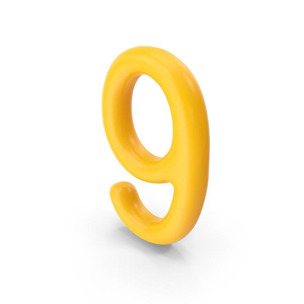 Number 9 Orange PNG & PSD Images
