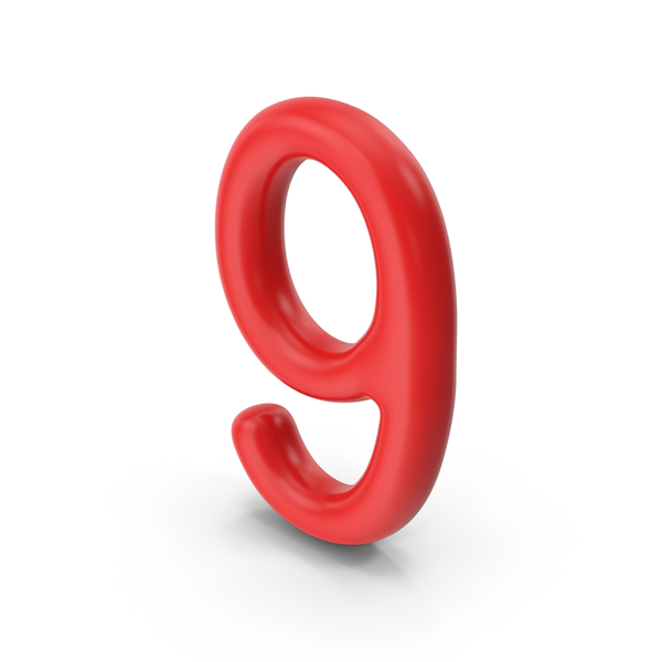 Number 9 Red PNG & PSD Images