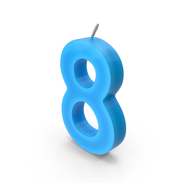 Number Eight Candle PNG & PSD Images