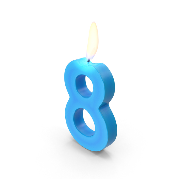Number Eight Candles PNG & PSD Images