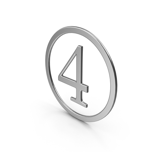 Number Four In Ring PNG & PSD Images