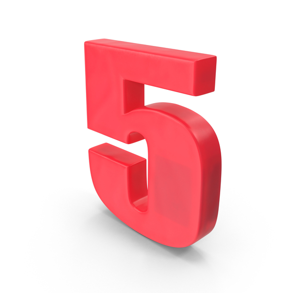 Number Fridge Magnet 5 PNG & PSD Images