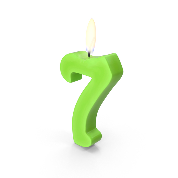 Birthday Candle: Number Seven Candles Object