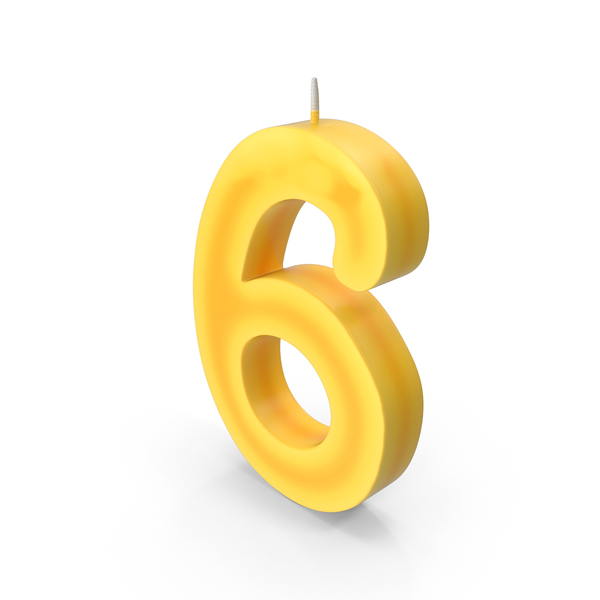 Number Six Candle PNG & PSD Images