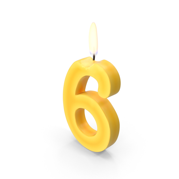 Birthday Candle: Number Six Candles PNG & PSD Images
