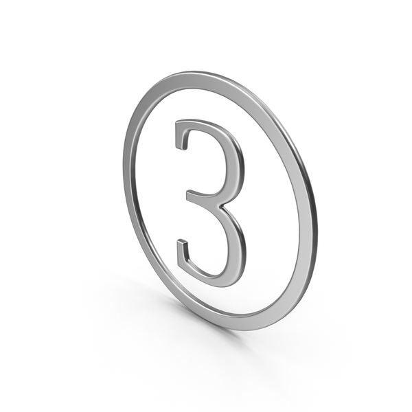 Number Three in Ring PNG & PSD Images