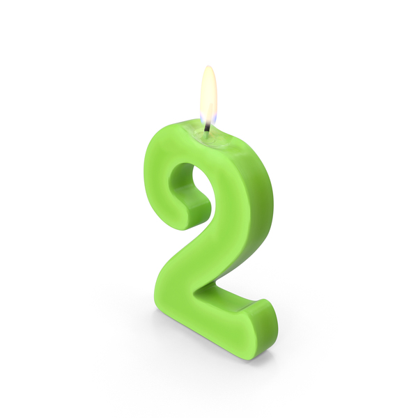 Birthday: Number Two Candle PNG & PSD Images