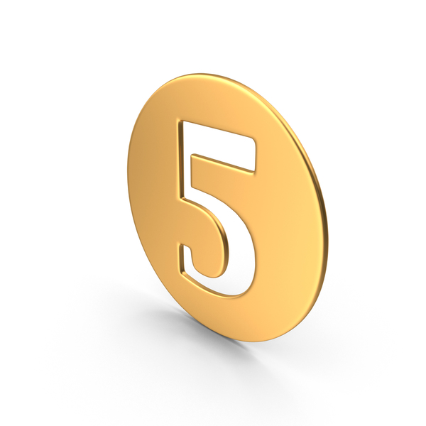 Number: Numeral 5 PNG & PSD Images