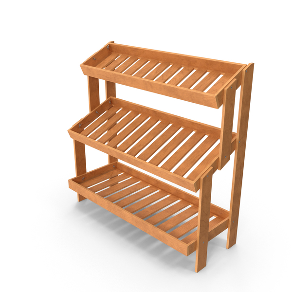 Oak Display Rack PNG & PSD Images