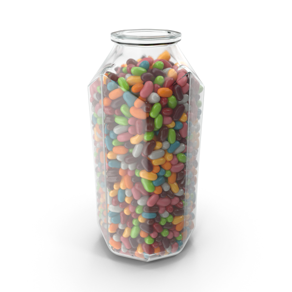 Octagon Jar with Jelly Beans PNG & PSD Images