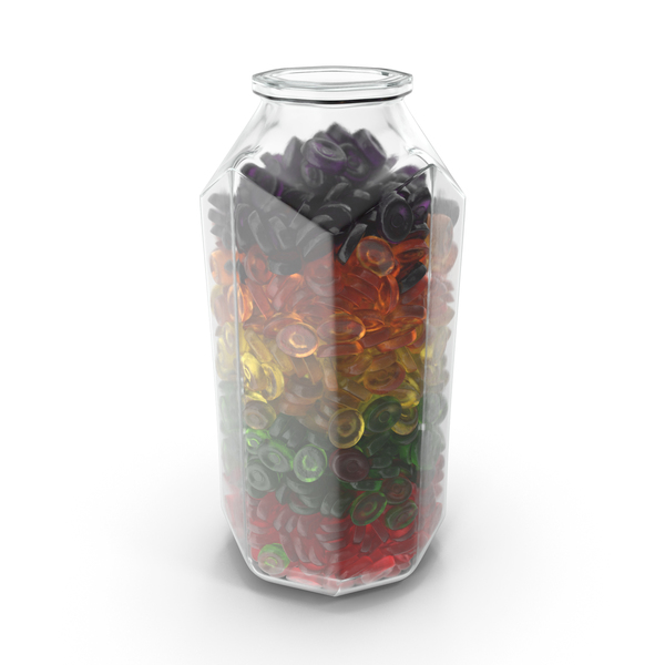 Octagon Jar With Oval Hard Candy PNG & PSD Images