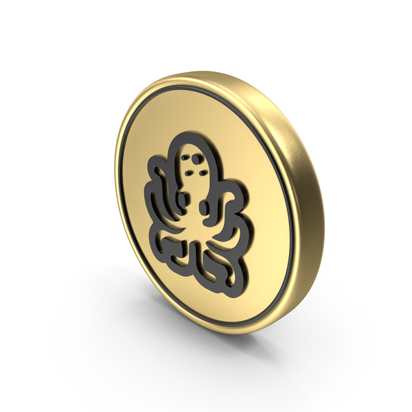 Octopus Coin Logo Icon PNG & PSD Images