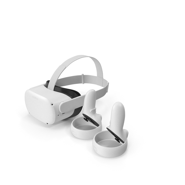 Virtual Reality Goggles: Oculus Quest 2 Standalone VR Headset with Controllers PNG & PSD Images