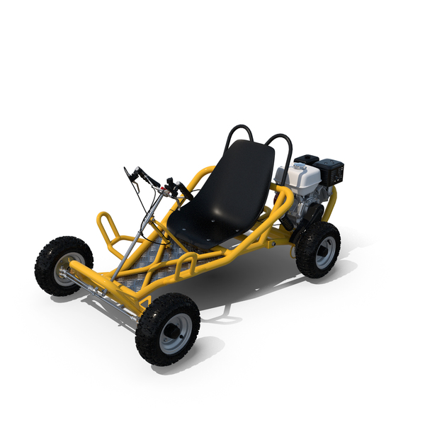 Off-Road Go Kart with Engine PNG & PSD Images
