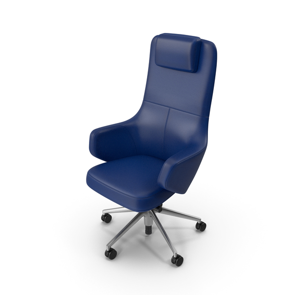 Office Chair Blue PNG & PSD Images