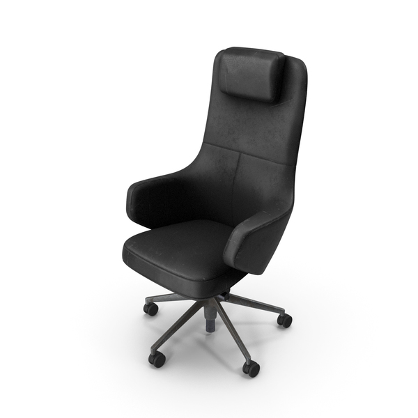 Office Chair Damaged Black PNG & PSD Images