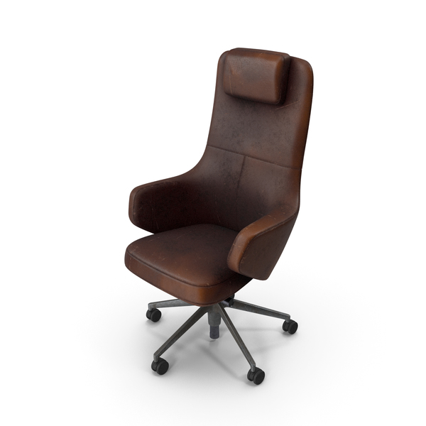 Office Chair Damaged Brown PNG & PSD Images