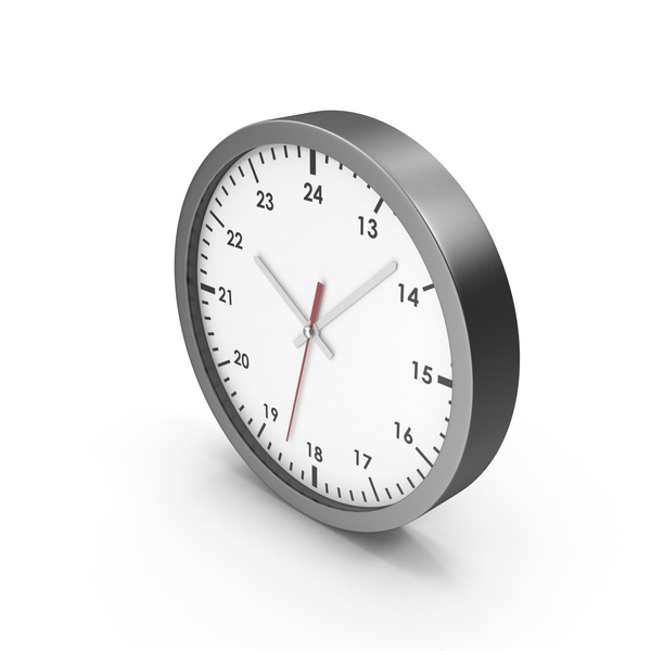 Office Clock White PNG & PSD Images