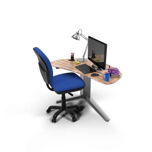 Office Desk and Accessories PNG & PSD Images