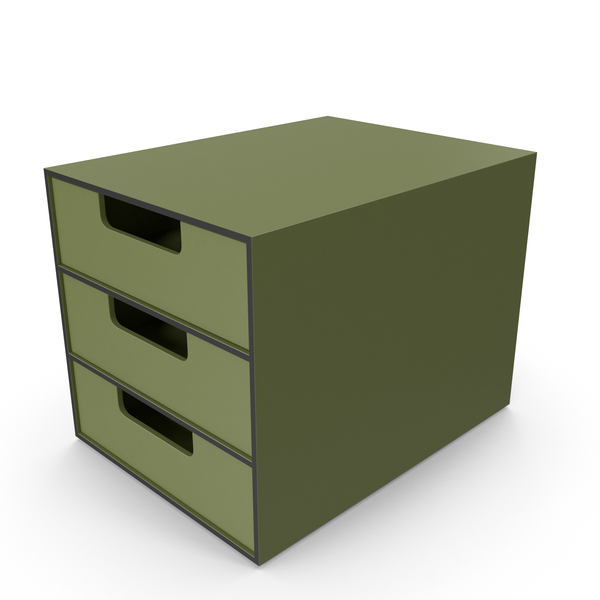 Office Drawer Green PNG & PSD Images