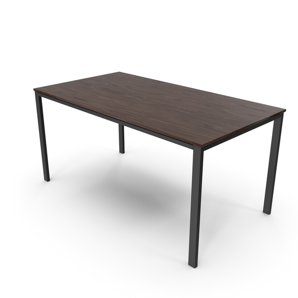 Office Table Walnut Black PNG & PSD Images