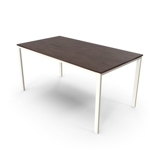 Office Table Walnut White PNG & PSD Images