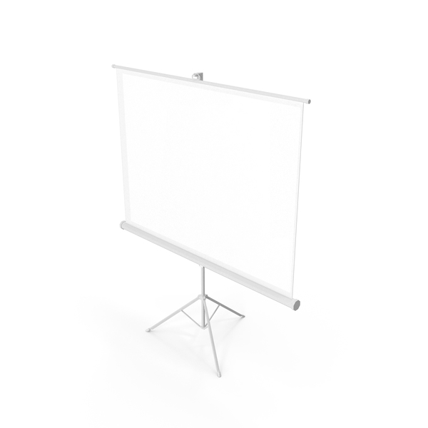Movie: Office Tripod Projection Screen White PNG & PSD Images