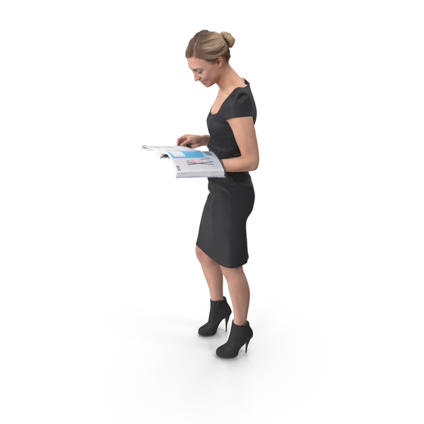 Office Woman Posed PNG & PSD Images