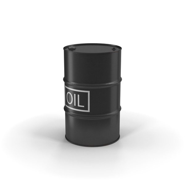 Oil Barrel with Label Object