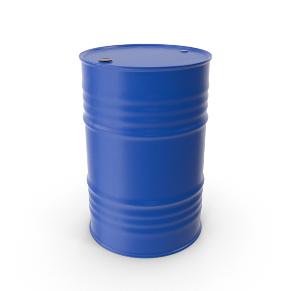 Oil Drum Blue PNG & PSD Images