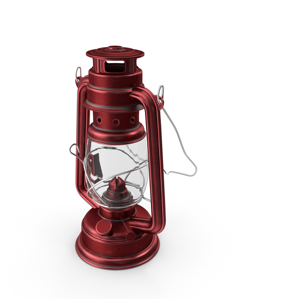 Oil Lamp Red PNG & PSD Images