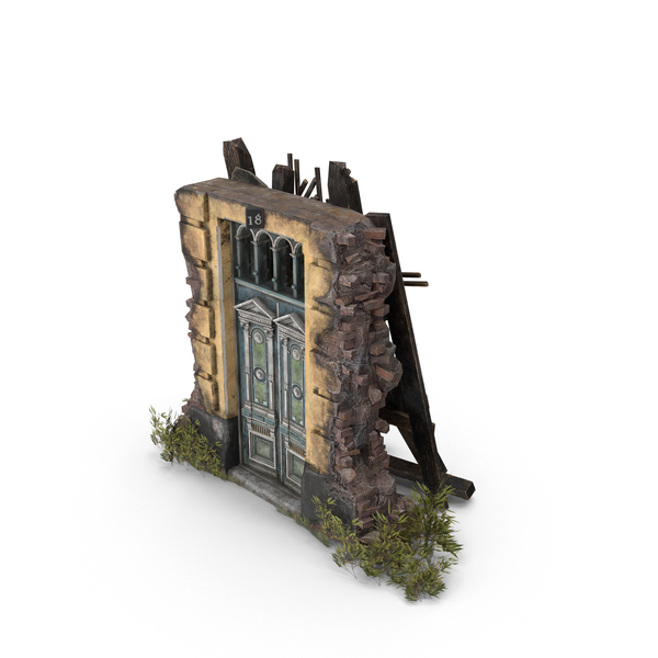 Old Abandoned Door PNG & PSD Images