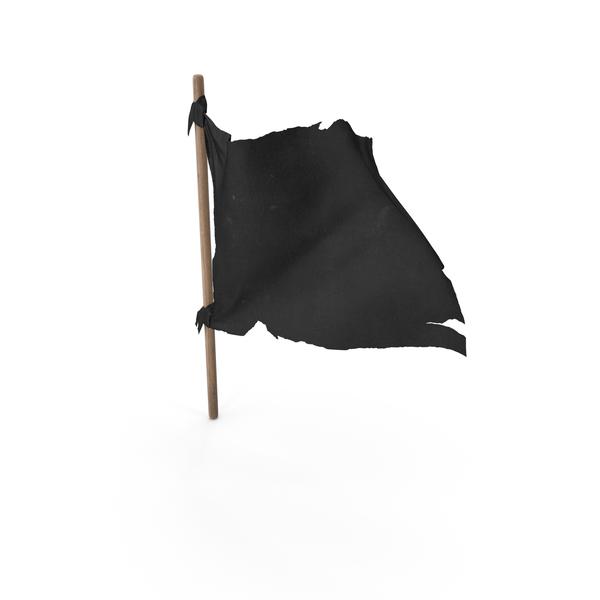 Old Black Flag on Wooden Stick PNG & PSD Images